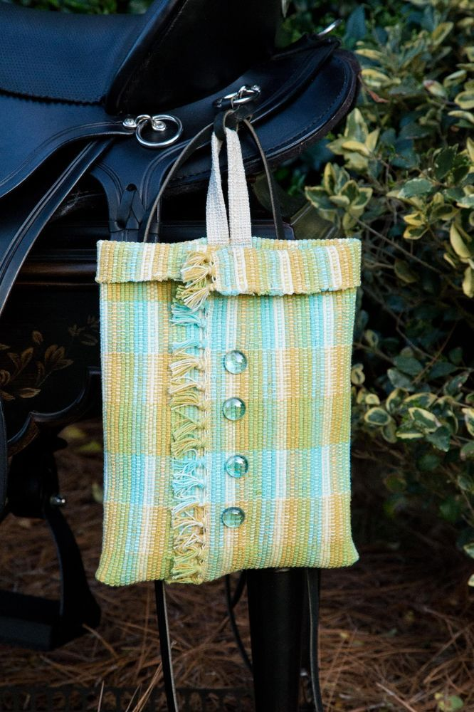 Designer Handcrafted Western Teal/Plaid Woven Saddle Bag #UniquelyHandCrafted