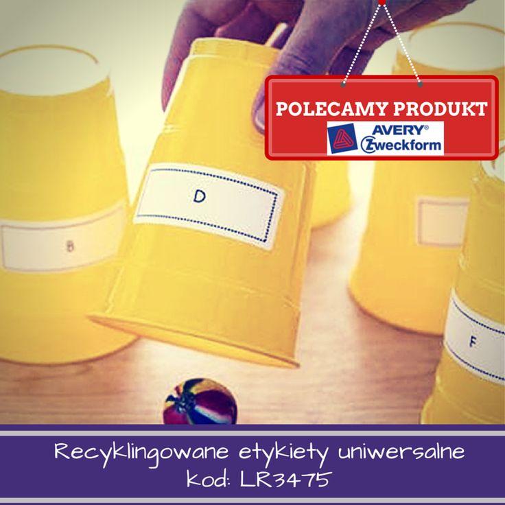Recyklingowane etykiety uniwersalne Avery Zweckform