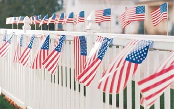 American flag garland is a simple decoration that demonstrates patriotism for Team USA.