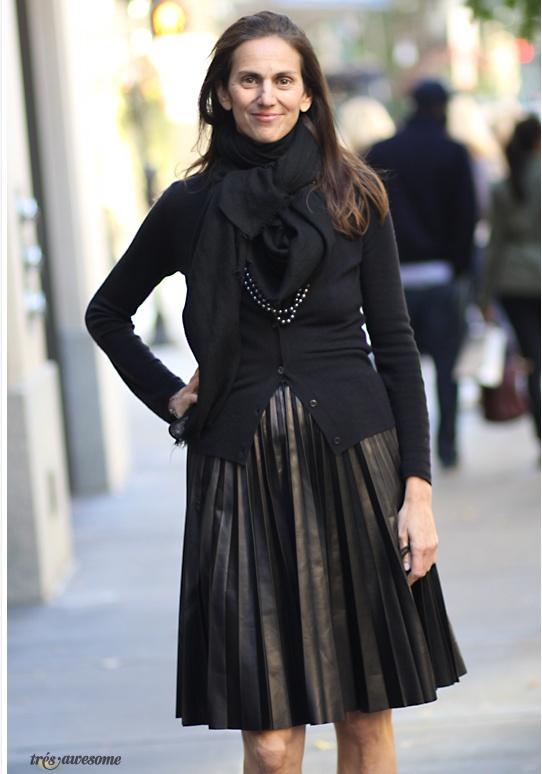 What I Wear to Work: Lisa Immordino VreelandFashion Weeks, Girls Generation, Festivals Fashion, Fashion Blog, Girls Clothing, Fierce Fashion, Pleated Leather Skirts, I D Wear, Style Fashion