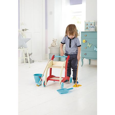 George Home Wooden Cleaning Trolley