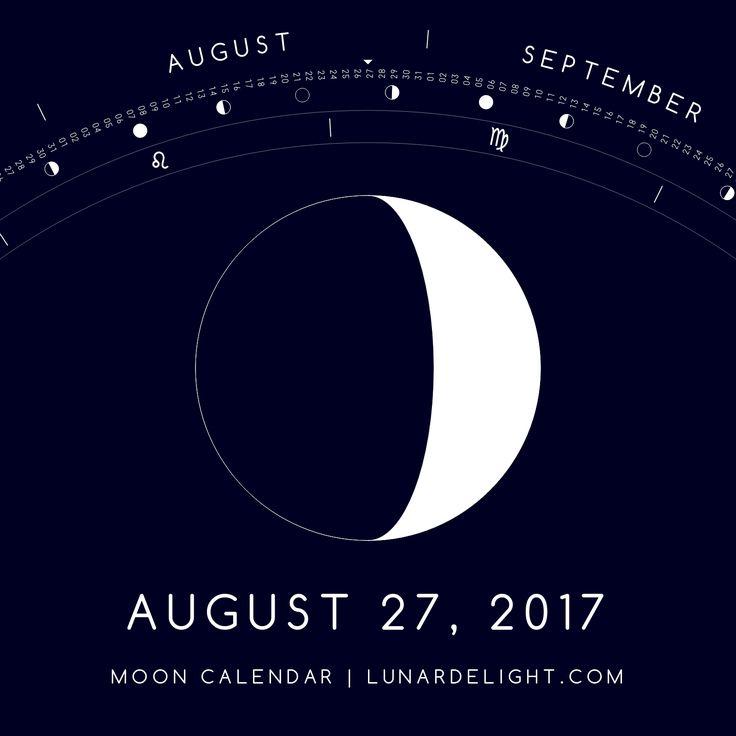 Sunday, August 27 @ 07:20 GMT  Waxing Crescent - Illumination: 31%  Next Full Moon: Wednesday, September 6 @ 07:04 GMT Next New Moon: Wednesday, September 20 @ 05:30 GMT