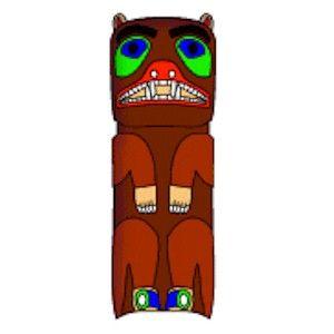 Recycled Cardboard Tube Bear Totem Pole Craft