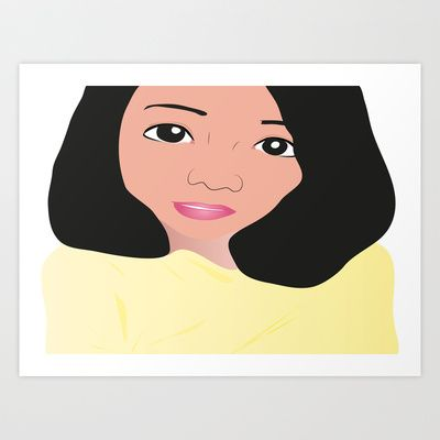EGGTEEN SISTA (ASIAN) Art Print by kikiLURVE - $19.48