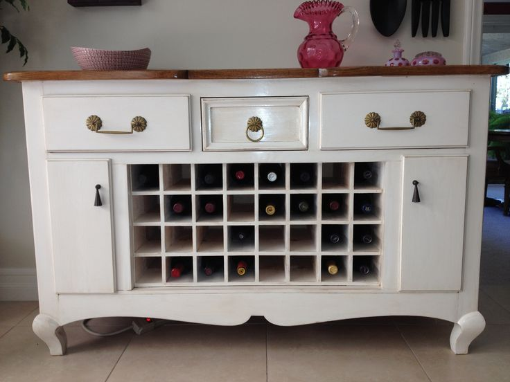 Turn a dresser into a wine cabinet