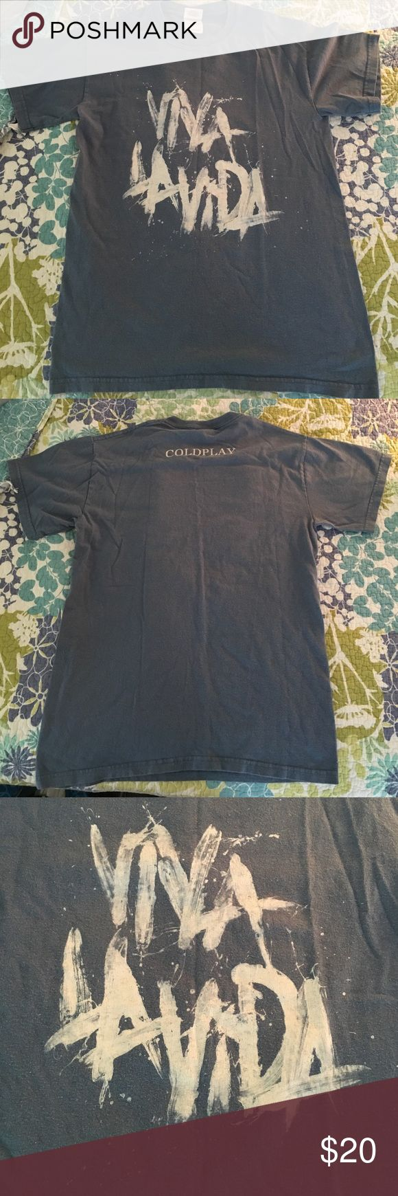 COLDPLAY SHIRT Pre-owned Coldplay T-Shirt, Bought at concert! Size small. One of a kind!! No longer sold. Shirts Tees - Short Sleeve