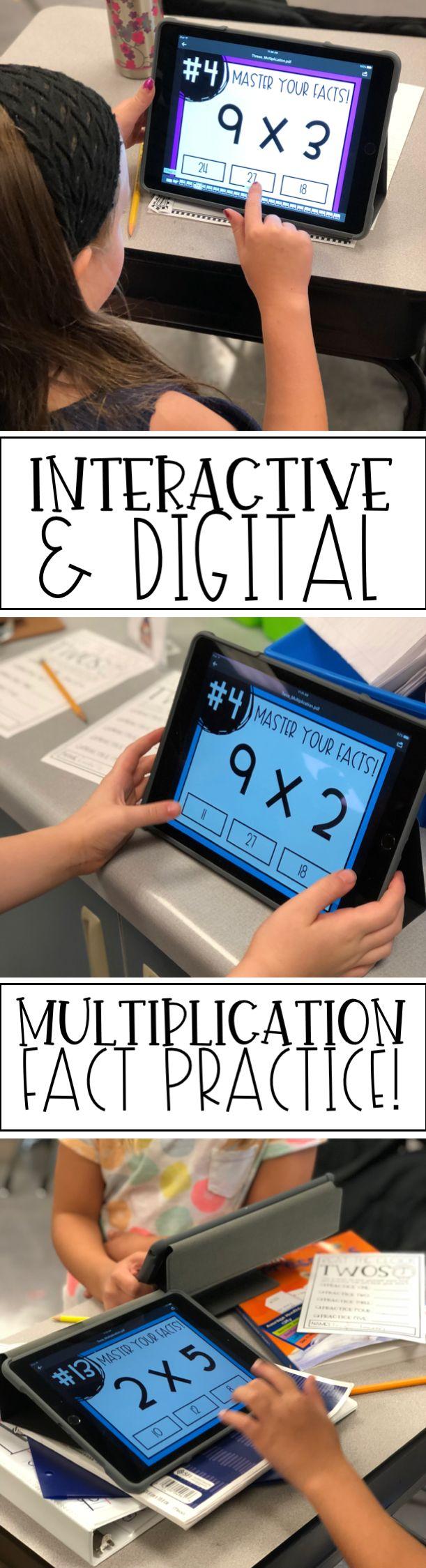 Best 25 multiplication facts practice ideas on pinterest master your multiplication facts interactive pdf activities growing bundle gamestrikefo Gallery