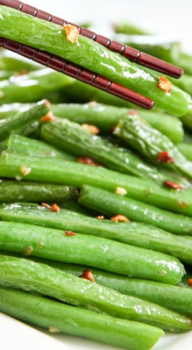 Chinese Style Garlic Green Beans | Recipe | Green, Chinese ...
