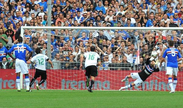 @Andreamuttley #MyBestSampMoment2012 il rigore nei play off contro il Sassuolo da parte di Da Costa ma sopratutto della gradinata sud! Uno spettacolo!