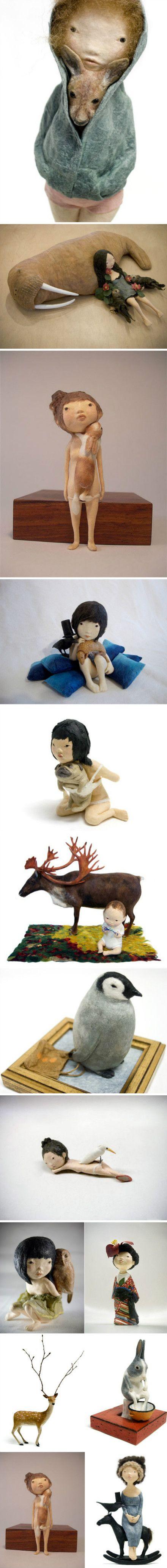 日本艺术家大久保恭子(Kyoko Okubo)羊毛毡…_来自阿宛的图片分享-堆糖网