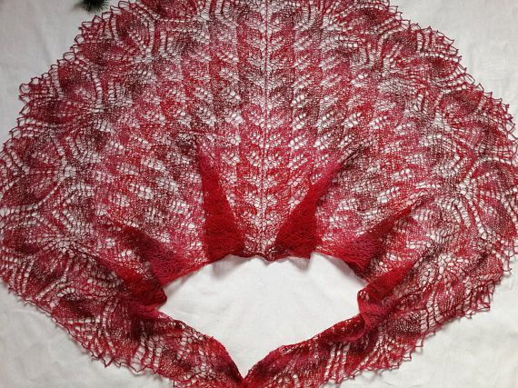 Beauty gift Gift for girlfriend Clothing gift Shawl red wrap
