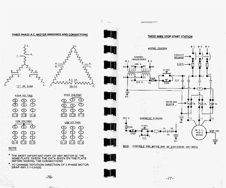 Great Three Phase Motor Wiring Diagram 3 Star Delta And