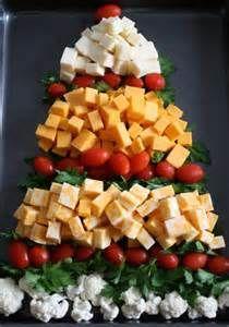 My Christmas tree cheese platter