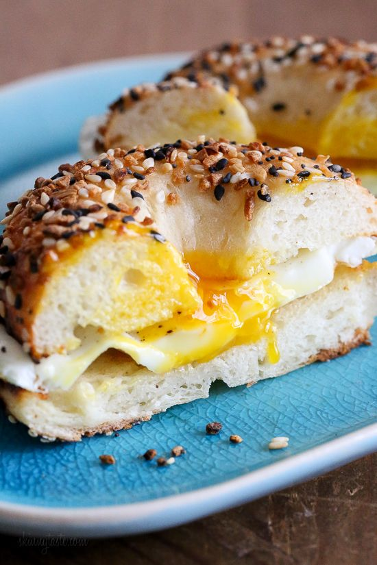 This easy homemade bagel recipe is made from scratch with just five (5) ingredients – flour, Greek yogurt, egg white, baking powder and salt! No yeast, no boiling, no fancy mixer. Bake them in the oven or in the air-fryer! #bagel #bagelrecipe