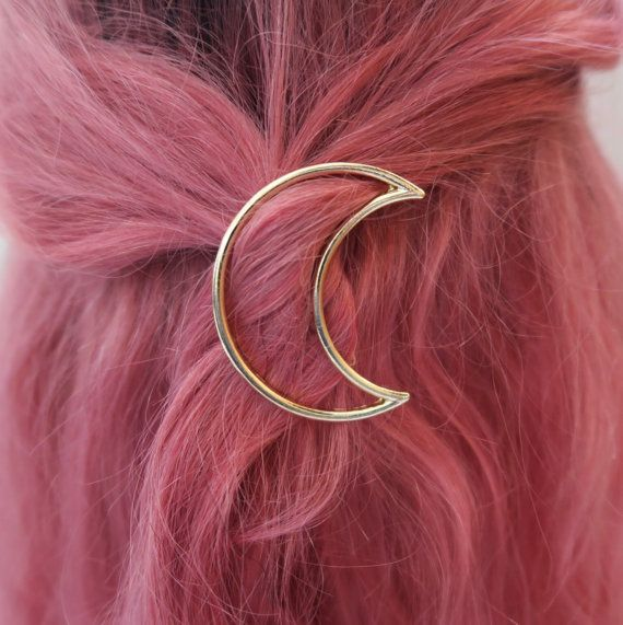 Boho Moon Hair Pin Brooch by Shylox on Etsy