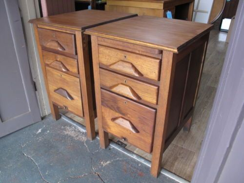 Vintage Retro Bedside Tables Cabinets Drawers Units Industrial Style Upcycled | eBay