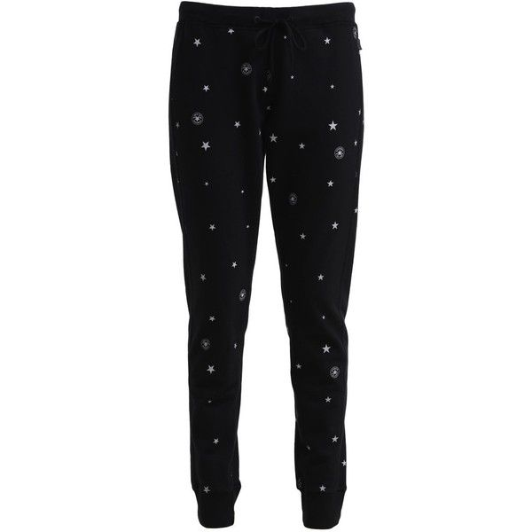Converse Tracksuit bottoms converse multi (235 BRL) ❤ liked on Polyvore featuring black