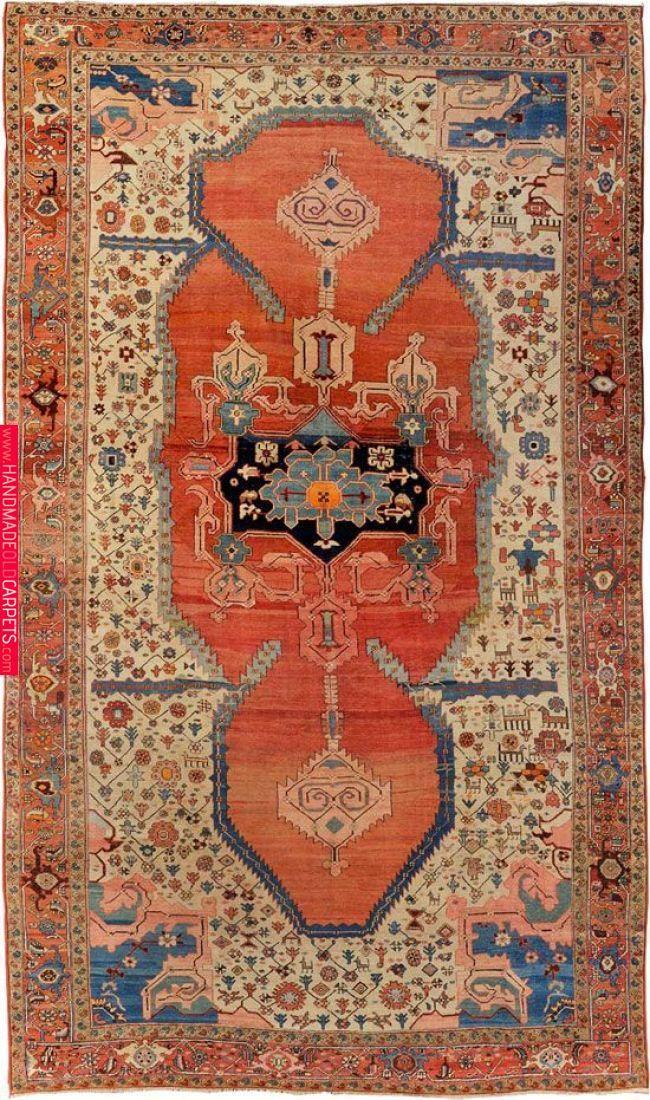 Antique Serapi Carpet North West Persia
