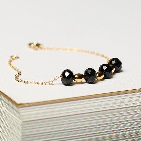 Paris  gold beaded bracelet  delicate chain by MinettaJewellery, £19.00