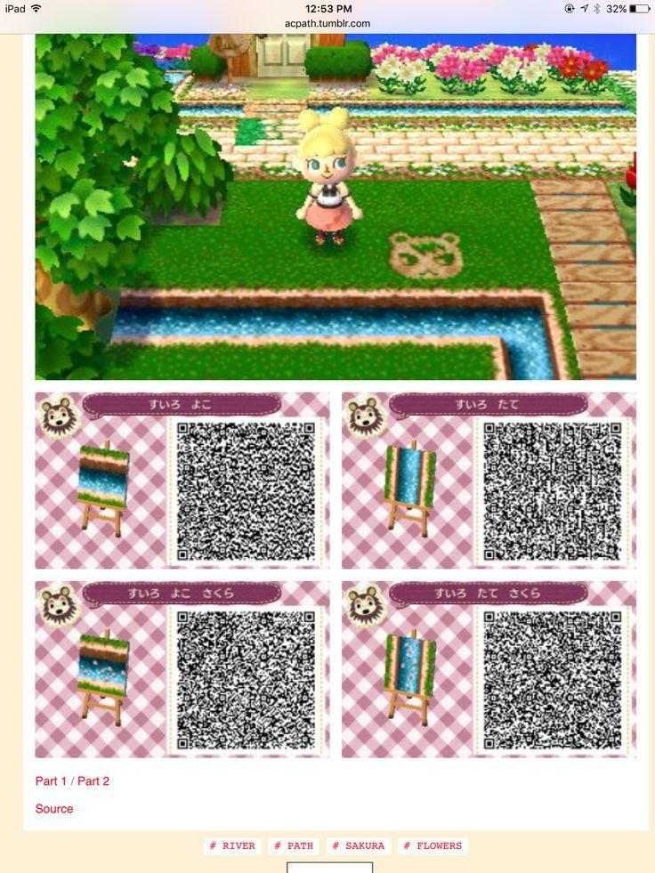 Water Decorative Pieces Acnlpaterne Passage D Animaux Motifs De Sol Animal Crossing Qr
