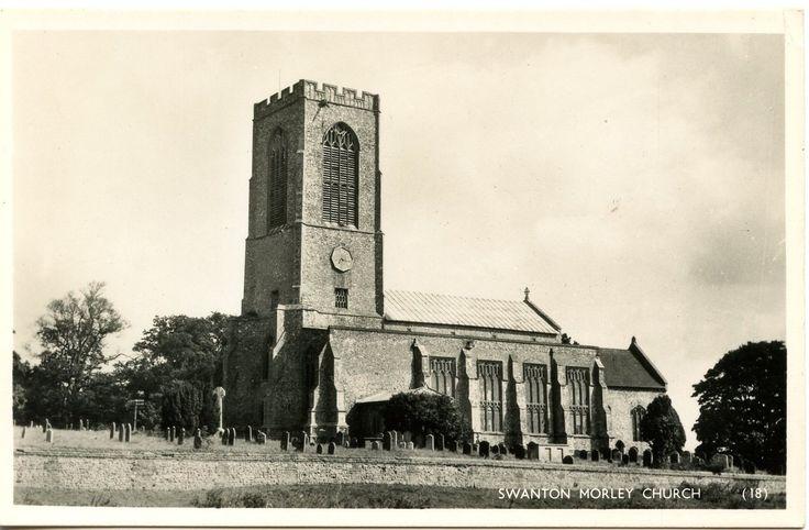 Old Rare Postcard Swanton Morley Church Norfolk Unused (Ref: LE191) | eBay