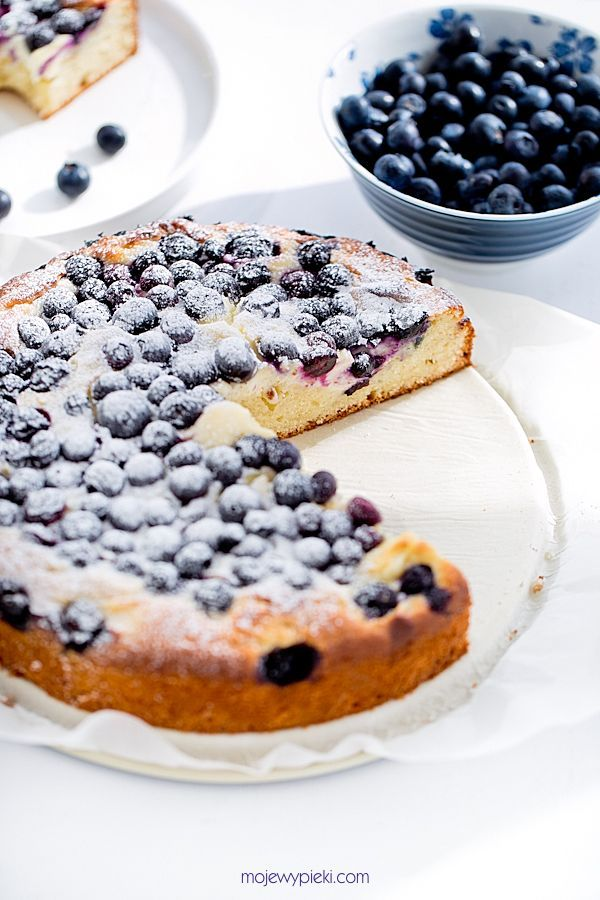 Cottage Cheese Cake iwth Blueberries