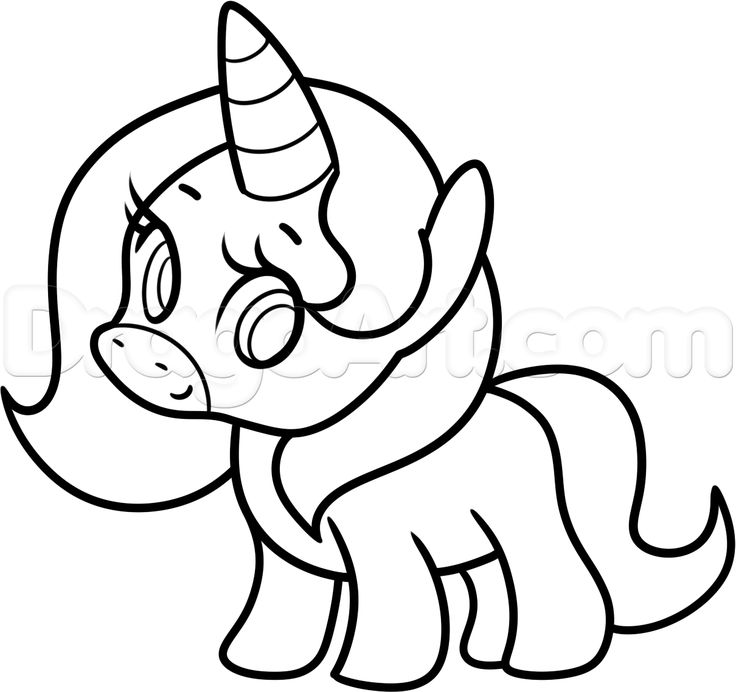 how to draw a simple unicorn step 9