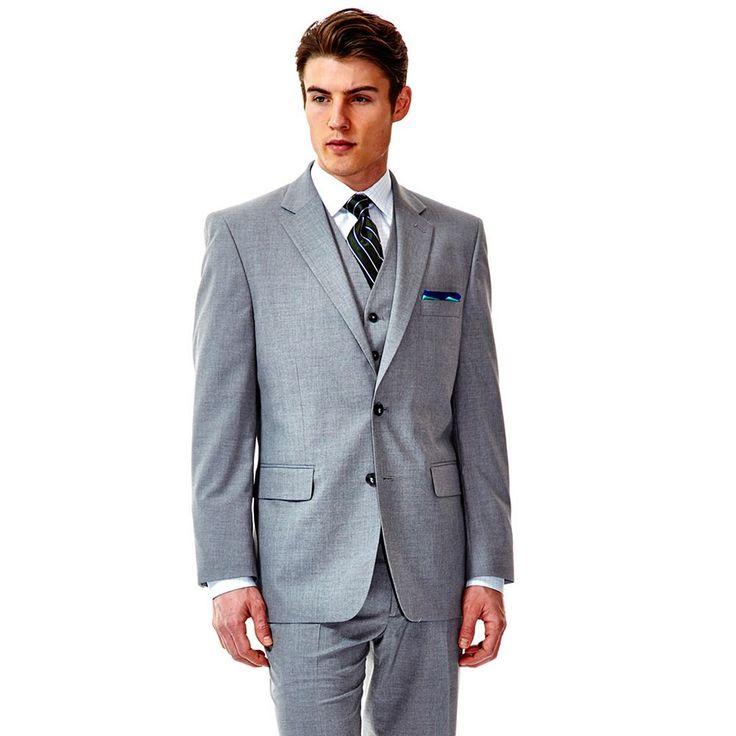 Men's Haggar® Suit Up System Slim-Fit Suit Jacket, Size: 46 - regular, Light Grey