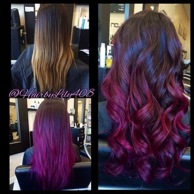 Purple Pink And Plum Ombr 233 Balayage Yelp Hairstyles