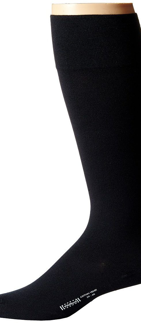 Wolford Cotton Velvet Knee-Highs (Black) Men's Knee High Socks Shoes - Wolford, Cotton Velvet Knee-Highs, 031066-002, Footwear Socks Knee High, Knee High, Socks, Footwear, Shoes, Gift, - Fashion Ideas To Inspire