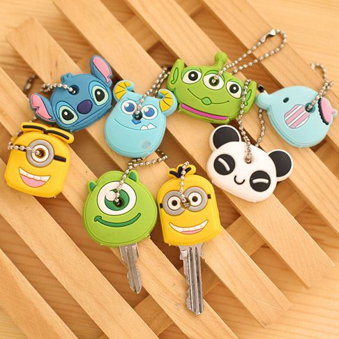 Car StylingHigh quality free shipping Kawaii Cartoon Animal Silicone Key Caps Covers Keys Keychain Case Shell Novelty Item KCS //Price: $0.99 & FREE Worldwide Shipping //     #AffCar