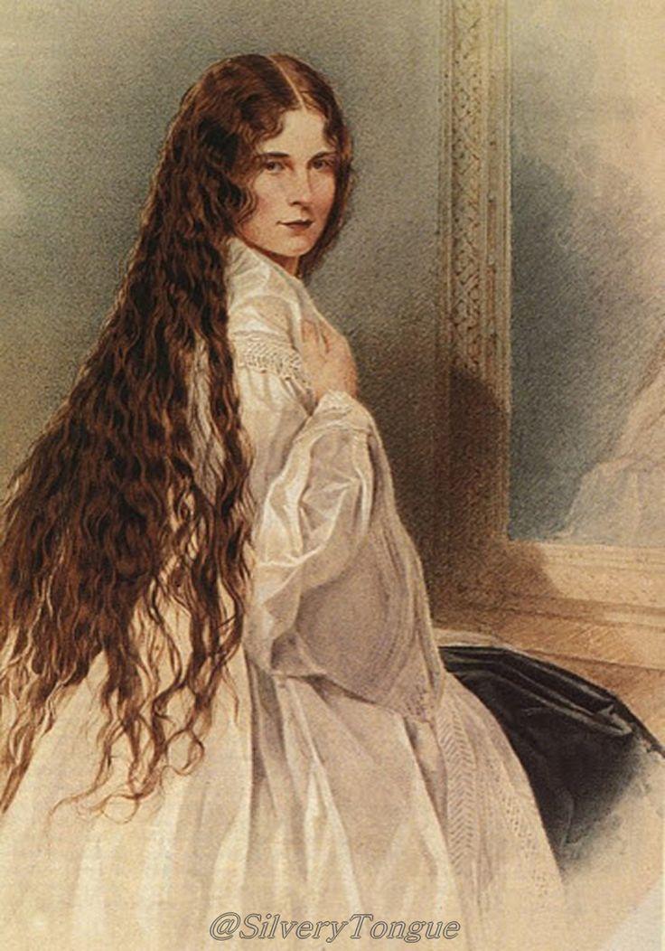 Kaiserin Elisabeth mit offenen Haaren. Um 1900. Posthumes Portrait ...