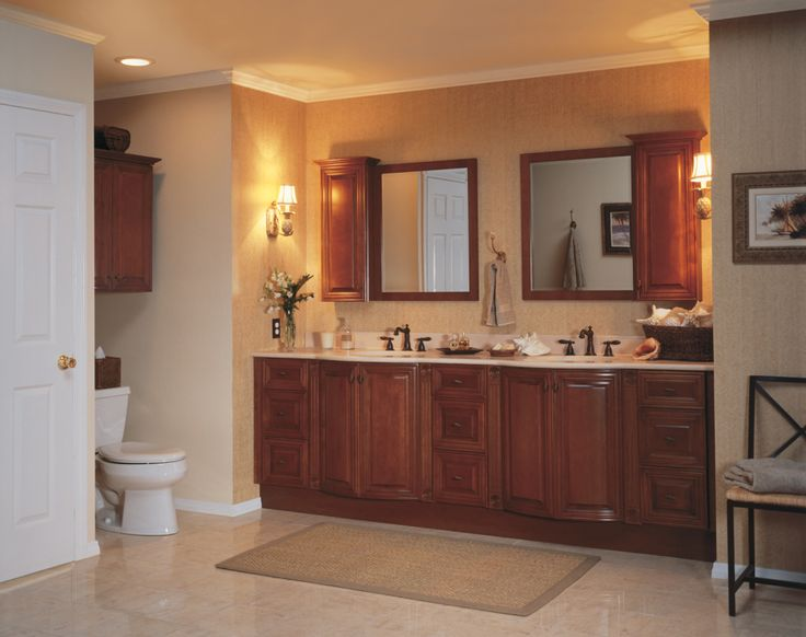 Bathroom Small Brown Rug Combined With Yellow Lighting Also Wooden Bathroom Wall Cabinets Catchy Wall Cabinets