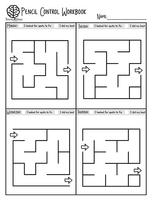 30+ Skill Sheets for students to build prewriting skills. Students practice strokes and squiggles, pictures, and mazes! This is a fun set for Tots and PreK