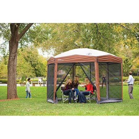 Coleman 12-by-10-foot Hex Instant Screened Canopy/Gazebo  -  $162