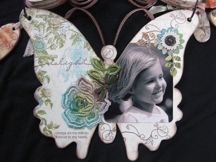 One of the pages inside the Scrap FX butterfly album.