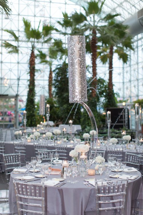 Elegant White And Crystal Wedding At Gardens With Photos By Miller Photography