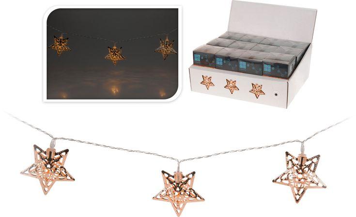 Led-valosarja tähtikoristeilla