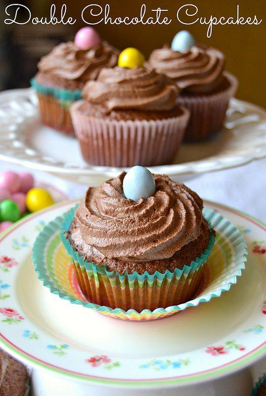 Double chocolate cupcakes