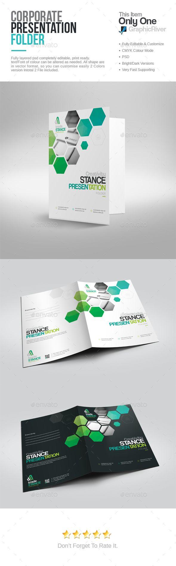 Best Brochures Designs Images On Pinterest Page Layout - Fresh presentation folder template psd design