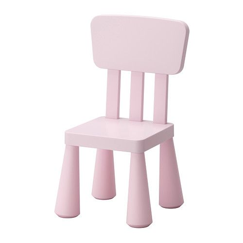 MAMMUT Children's chair, light pink indoor/outdoor, light pink indoor/outdoor/light pink -