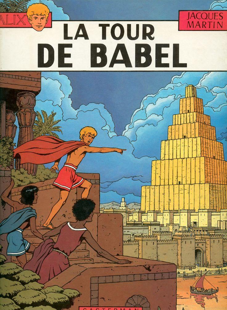 Les Aventures d'Alix, Tome 16, La Tour de Babel, couverture.