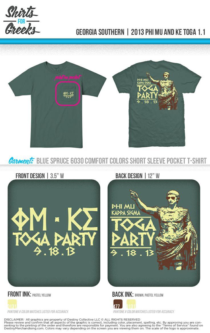 T shirt design reno nv - Phi Mu Kappa Sig Toga Party Tshirt Ideas Designs Socials
