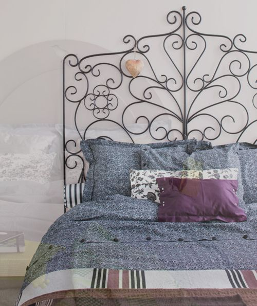 Romantic batten bed head boards | like the iron bed in the image above as it has a more romantic ...