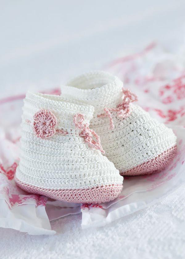 Mejores 103 imágenes de zapatitos en Pinterest | Crochet zapatos ...
