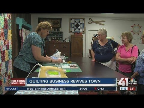Quilting company saves small Missouri town - YouTube     You must watch this.  I have been there, it was worth the trip from Northern Mn!