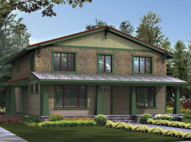 Craftsman House Plan with 3170 Square Feet and 3 Bedrooms from Dream Home Source | House Plan Code DHSW55300