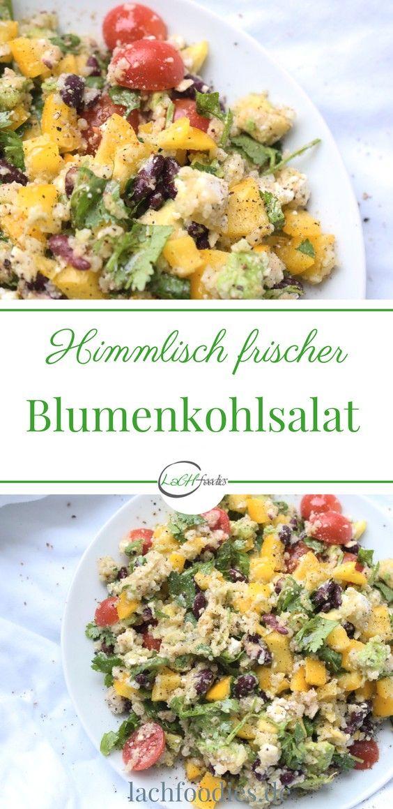 Himmlisch frischer Blumenkohl-Avocado-Salat. low carb, lchf, lc, ohne Kohlenhydrate, less carbs, abnehmen, weightloss, salad recipe, salat repeat, gesund essen, healthy, healthy living, gesunde Ernährung, salat Rezepte, Feldsalat, salad recipes, saladsunday, gesunde Rezepte zum abnehmen, gesundes Rezept, healthy rezepte, Blumenkohlreis, Blumenkohlreis Pfanne, Blumenkohlreis Rezept, Blumenkohlreis Curry, Blumenkohlreis Garnelen, Low Carb Blumenkohlreis, Low Carb Reis, Reis Low Carb Rezepte