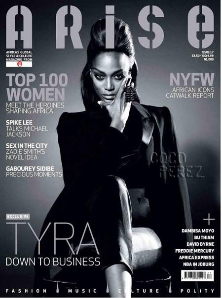 This is a fierce image of Tyra Banks renown super model and also a strong advocate of equality among other things. Ms.Banks has and continues to be on a variety of talk shows, donated to many organizations, and given her own time to children in poor environments. She is the definition of productivity, inspiration,but most of all purpose to many women including myself. This image motivates my purpose need.