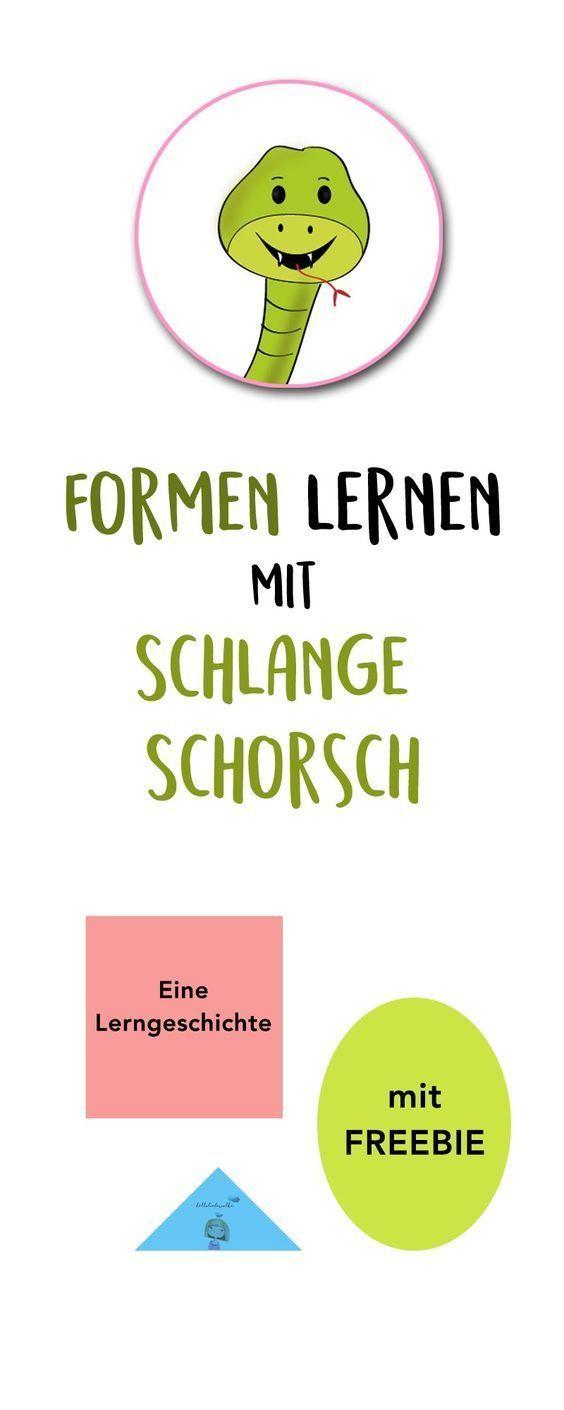 Formen lernen mit Schlange Schorsch Lerngeschichte & Printable